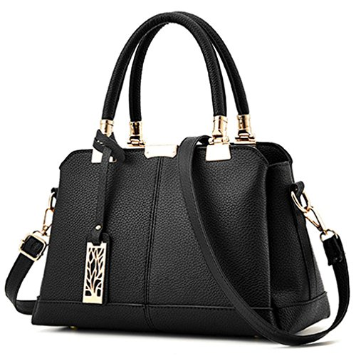 Amazon.com: Chic-Dona Classic Pu Leather Women Handbags ...
