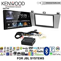 Volunteer Audio Kenwood DMX7704S Double Din Radio Install Kit with Apple CarPlay Android Auto Bluetooth Fits 2004-2008 Toyota Solara with Amplified System (Silver)