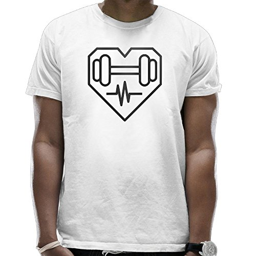 LAPAD7 Health Heart Dumbbell Fitness Exercise Mens T-Shirt Fashion Graphic Sports Crew Neck Short Sleeves - Custome Minion
