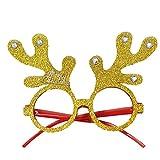 Pgojuni Christmas Glasses Snowman Frame Happy New Year Kids Favors Xmas Gift Party Decor 1 PC (E)