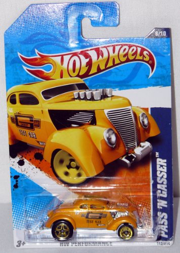 Hot Wheels Kids Bedding - Hot Wheels Performance Series Die Cast Toy Vehicle #6 Golden Yellow Pass 'N Gasser Gasket Test Car Ford Hot Rod