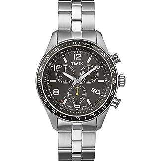 Timex Classic T2P041KW – Reloj de cuarzo para hombres, correa de acero inoxidable, color plateado
