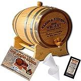 """MADE BY"" American Oak Barrel - Personalized American Oak Aging Barrel - Design 063: Barrel Aged Whiskey (2 Liter)"