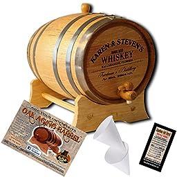Personalized American Oak Aging Barrel - Design 063: Barrel Aged Whiskey (5 Liter)