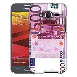 Samsung Galaxy Core Prime Case, Slim Fit Snap On Cover by Trek 500 EURO Banknote Case