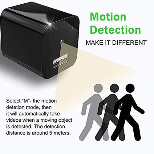 Spy Camera Charger Hidden Camera HD 1080P Security Cameras Wall Charger Nanny Cam Plug Cams Adapter Camera Motion Detection Loop Recording