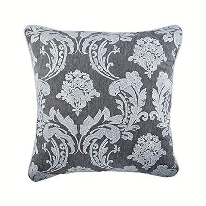 Marvelous Amazon Com The Homecentric Grey Victorian Damask Couch Inzonedesignstudio Interior Chair Design Inzonedesignstudiocom