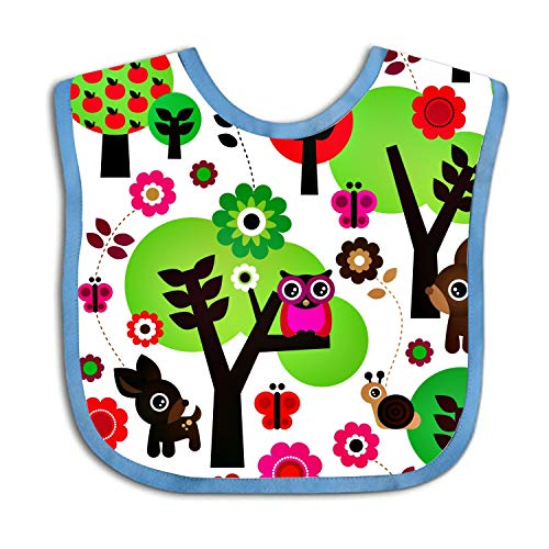 Baby Deer Owl Bandana Drool Bibs for Girls Boys