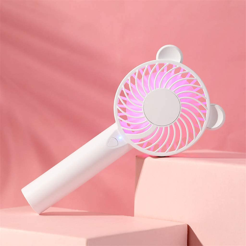 Libison Mini Handheld Fan,Personal Portable Desk Stroller Table Fan Cooling Electric Fan Preventing from Heat StrokeRechargeable Batter Operated Electric Fan for Home and Office Pink