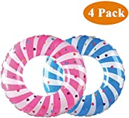 """AnSun Inflatable Pool Tube Raft 32.5"""" (4 Pack), Funny Inflatable Pool Float Toys Swim Tubes for Swimming Pool"""