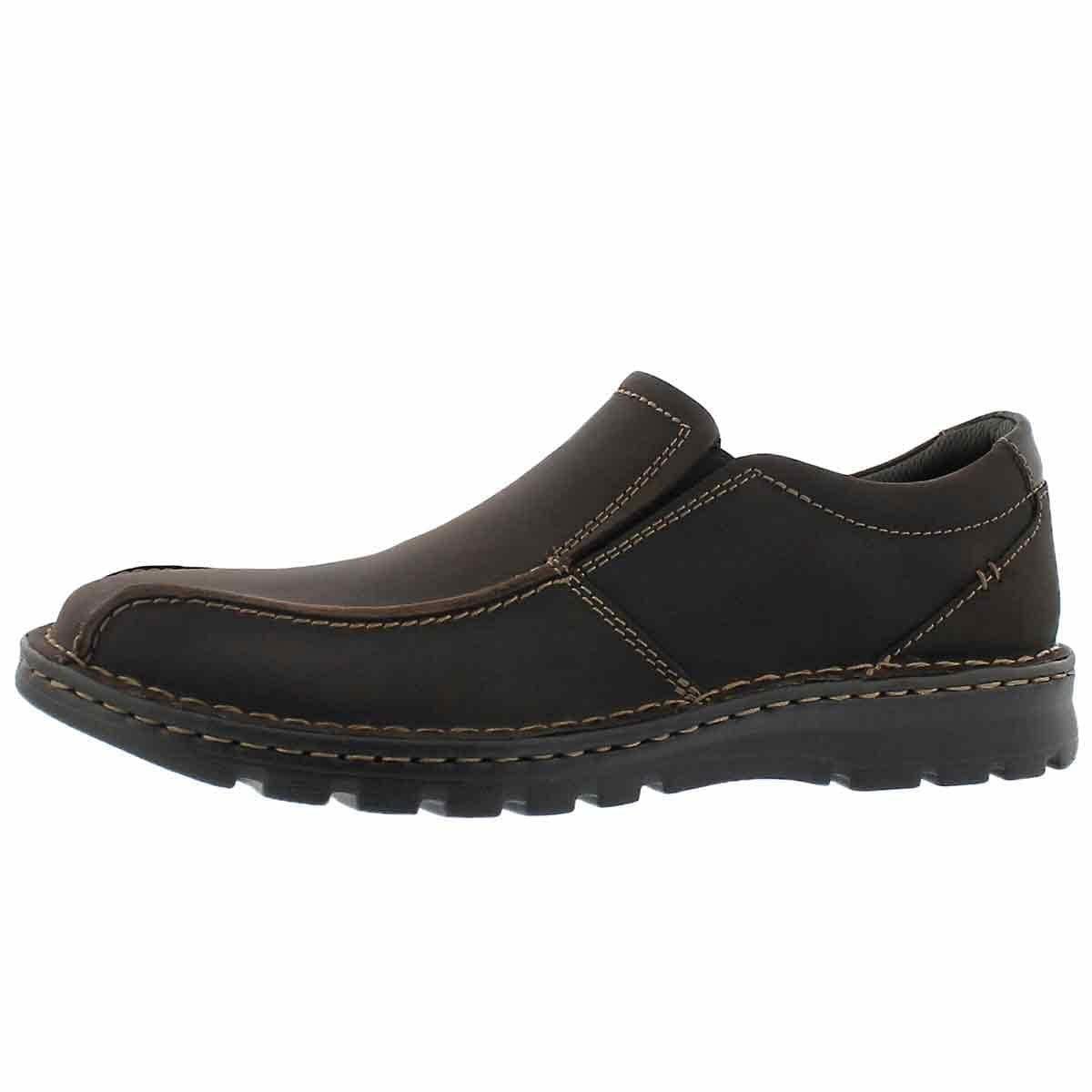 Dk brown Clarks Men's Vanek Step Loafers