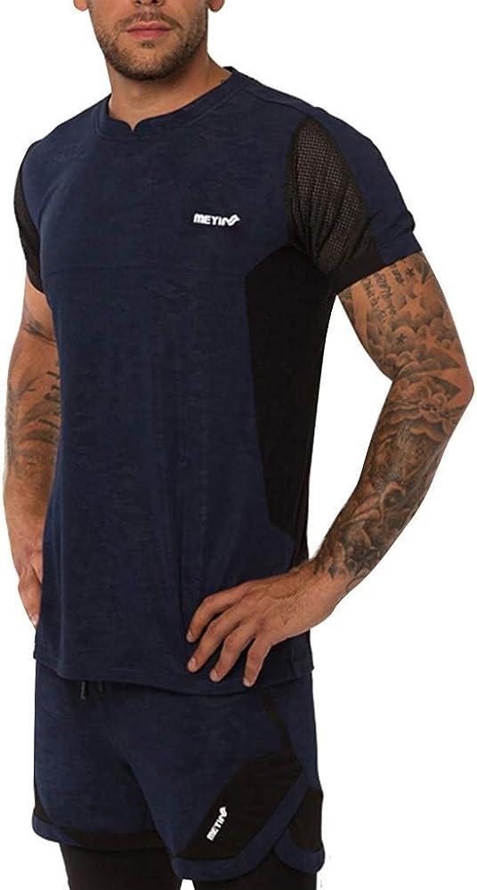 Camisetas Deportiva de Manga Larga Camisa Transpirable de Confort con Topless Suelta y sin Mangas Deportiva Blusa Hombre surttan Deportiva de Secado rápido para Hombres de Manga Corta Medias corsé: Amazon.es: Ropa