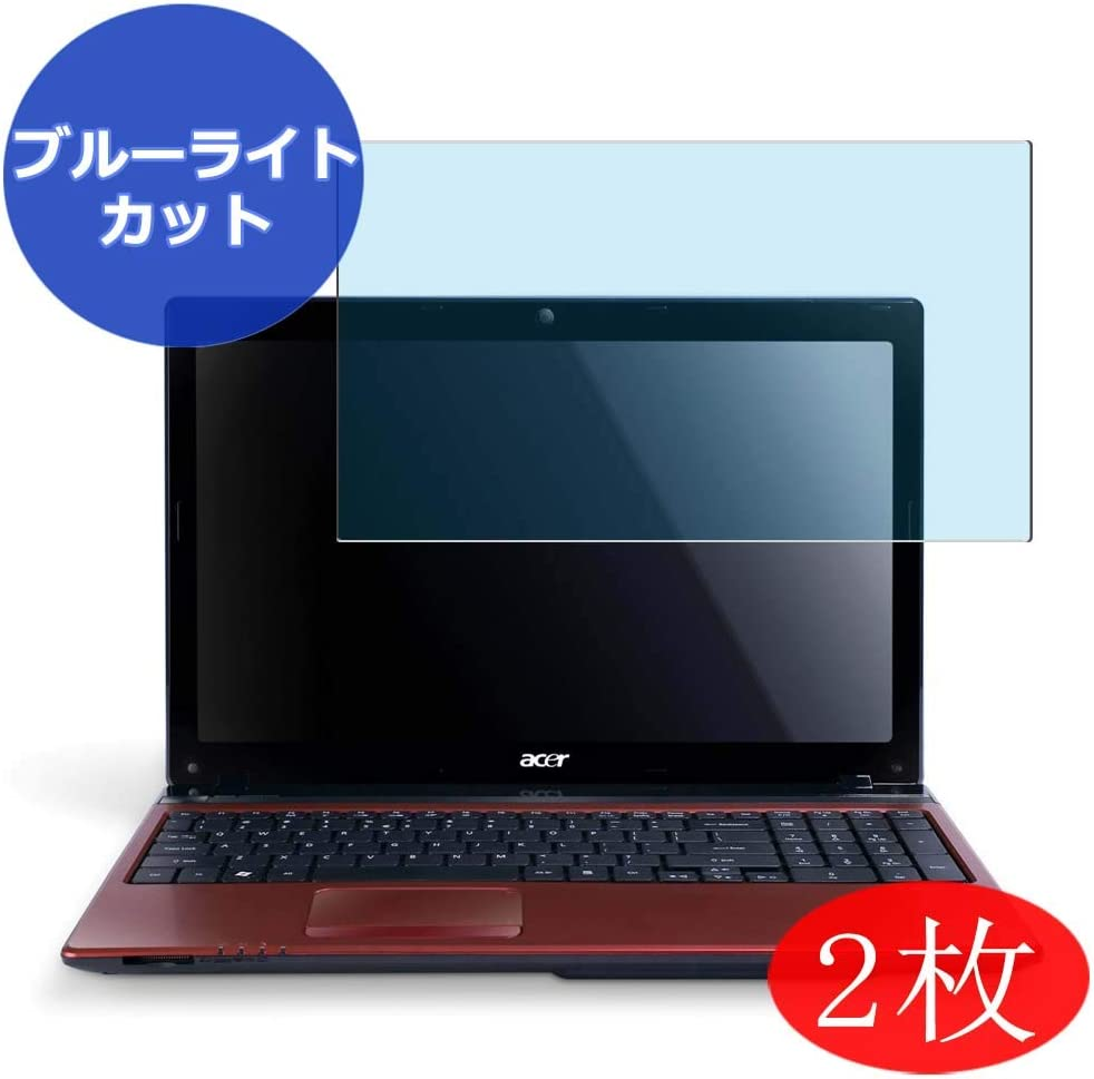 "【2 Pack】 Synvy Anti Blue Light Screen Protector for acer Aspire AS5750 Series 15.6"" AS5750-F58D / LR Anti Glare Screen Film Protective Protectors [Not Tempered Glass]"