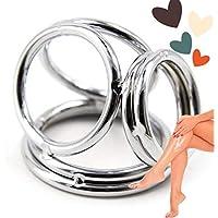 couplegift Stainless Steel Metal Four Multifunctional O-Rings for Men