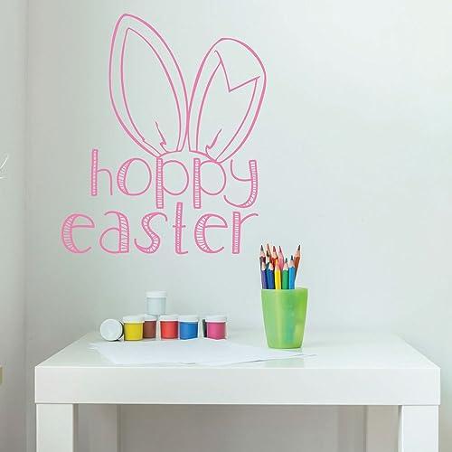 Amazon.com: Easter Bunny Decorations, Christian Vinyl Wall Art ...