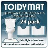 ToidyMat - 24 Disposable Contour Mats for Bathrooms - Incontinence Pads