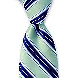 Green and Midnight Blue Tie Regimental Stripes by Tie This | The Camden Tie
