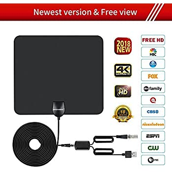 ... 50 Miles Long Range Support Indoor 1080P/4K Digital TV Hd Antenna,Detachable Amplifier Signal Booster,ANCROWN 16.5 FT High Performance Coaxial Cable