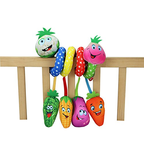 Soft Crib Toys : Lanlan cute soft vegetable baby stroller toys around crib