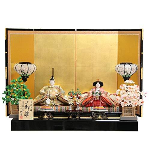 雛人形 親王平飾り【宮廷乃雛】[193to1009]松寿 雛祭り   B07J28WHPB