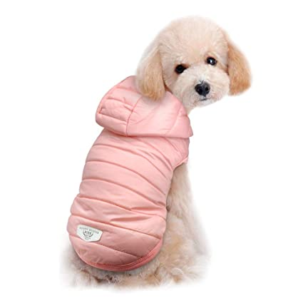 460eaf358bec Beirui Cold Weather Dog Coats - Windproof Pink Dog Warm Hoodies -  Lightweight Dog Jacket - Cute Dog Clothing for Small Dogs Suitable Toy  Breeds, Toy Poodle, ...