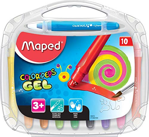 Maped Color'Peps Gel Smoothy Crayons (10 Pack) (Maped Color Peps)
