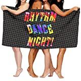 HONGYUDE Rhythm Dance Night 100% Polyester Velvet Absorbent Washcloths 31 X 51 inches