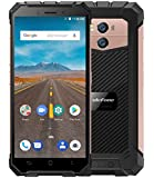 """Ulefone Armor X - 5.5"""" HD (18:9 ratio) IP68 Waterproof / Shockproof / Dustproof 4G Android 8.1 Smartphone, 5500mAh battery (support wireless charge), 1.5GHz Quad Core 2GB + 16GB. 8MP + 13MP, Face ID/GPS/NFC - Gold"""