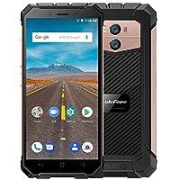 "Ulefone Armor X - 5.5 ""HD (relación 18: 9) IP68 Impermeable Antipolvo Antigolpes 4G Android 8.1 Smartphone, 5500mAh batería (carga inalámbrica de soporte), 1.5GHz Quad Core 2GB + 16GB. 8MP + 13MP, Face ID / GPS / NFC - Oro"