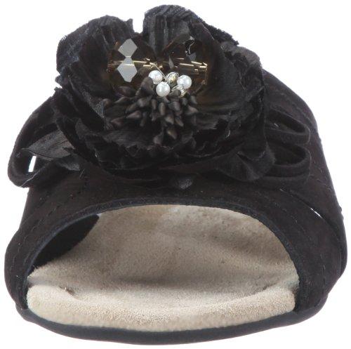 Semler Zoe Z1058-040-001 - Zuecos de cuero nobuck para mujer Negro