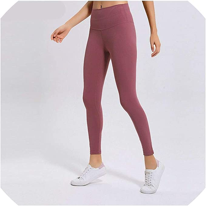 Yoga Pants Classical Soft Naked Feel Athletic Fitness ...