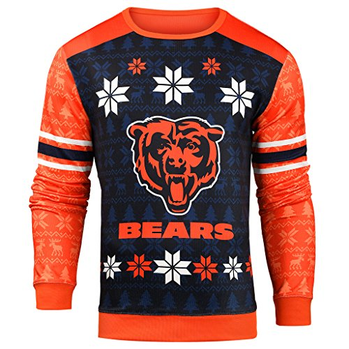 Forever Collectibles NFL Men's Printed Ugly Sweater,Chicago Bears