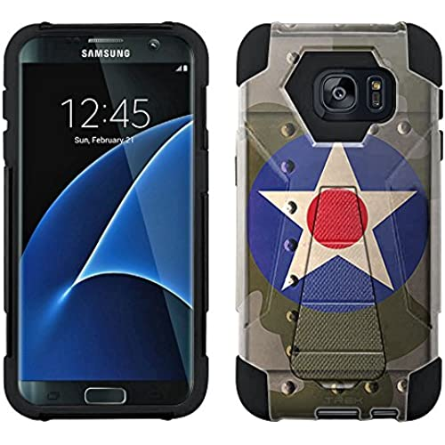Samsung Galaxy S7 Edge Hybrid Case United States Air Corps War Plane Fuselage 2 Piece Style Silicone Case Cover Sales