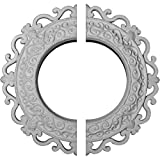 Ekena Millwork CM13OR2 13 1/4''OD x 6 5/8''ID x 1 1/8''P Orrington Ceiling Medallion, Fits Canopies up to 6-5/8'', 2 Piece