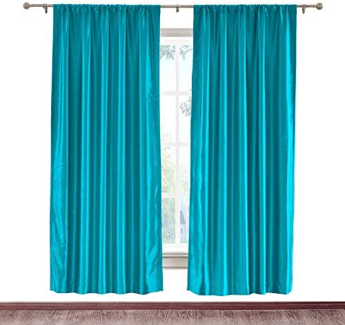 cololeaf Blackout Thermal Insulated Faux Silk Curtain Rod Pocket