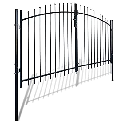 Daonanba Decorative Garden Gate Heavy Duty Door Fence Gate with Spear Top Practical Durable Barrier