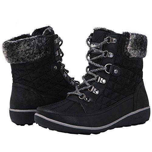Globalwin Women's 1818 Black Snow Boots 7.5M