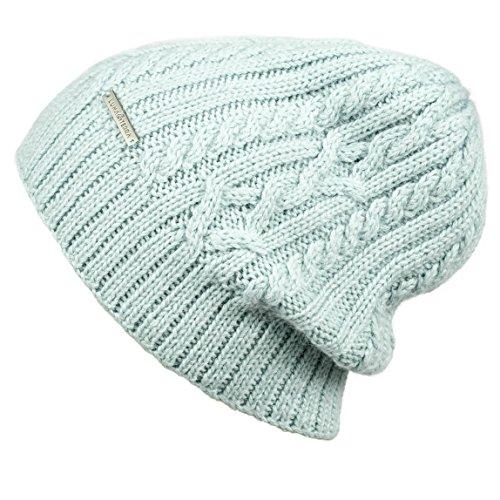 LUNA & TERRA - UDINE Hat Beanie Hand Knitted 100% BABY ALPACA (Glacier Ice)
