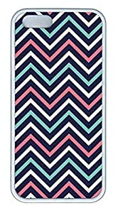 The Colorful Lines Soft Rubber White Case Cover iPhone 5S 5