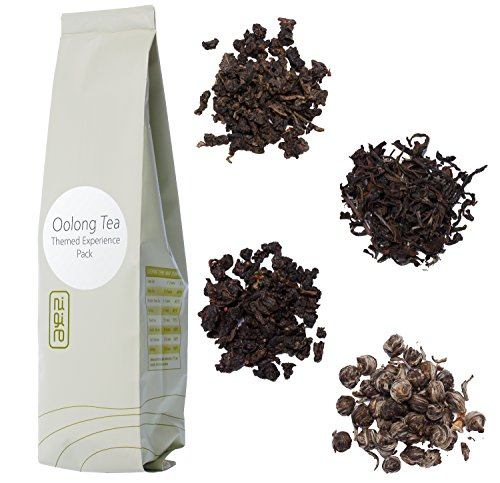 Nigiro Oolong Tea Experience Sampler Pack (4-teas) | 2-cups per Sample | Ultra Loose Tea Leaf Selection