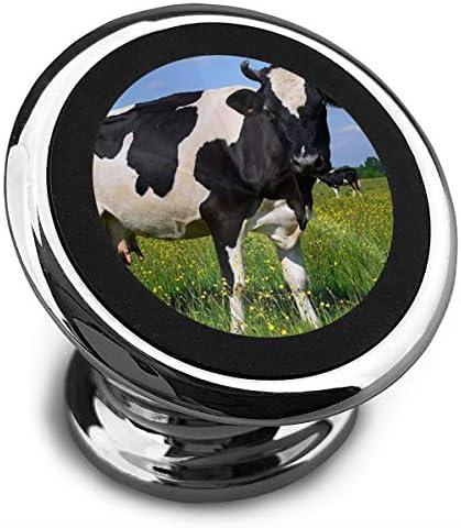 牛 携帯電話ホルダー おしゃれ 車載ホルダー 人気 磁気ホルダー 大きな吸引力 サポートフレーム 落下防止 360度回転