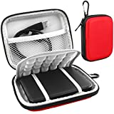 Lacdo EVA Shockproof Carrying Case for Western Digital My Passport Studio Ultra Slim Essential WD Elements SE Portable 500GB 1TB 2TB Mac USB 3.0 Portabl 2.5 inch External Hard Drive Travel Bag, Red