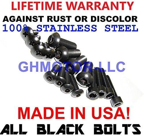 2003 2004 GSX-R GSXR 1000 Fairings Bolts Screws Fasteners Kit Set Made in USA Black