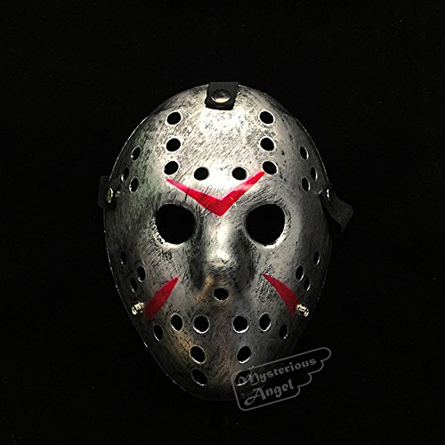 ArMordy(TM) Friday vs Jason mask Hockey Cosplay Costume Halloween Killer Horror Mask[ Silver (Hockey Mask Killer)