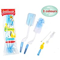 VERISA 5 in 1 Baby Bottle Cleaning Brush Set 5 Pcs Brush Cleaner Kit for Offi...