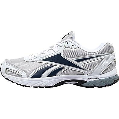 5f6d0d491e0 Mens Reebok Sprint Fury Neutral Running Shoes Silver White Navy Guys Gents  (UK
