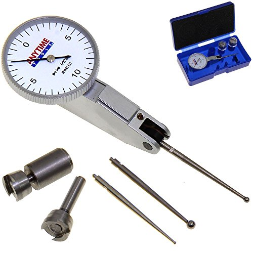 Anytime Tools Test Indicator Long Probe Extended Reach Lever High Precision Dial 7 Jewels 0.0005