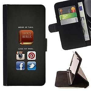 Momo Phone Case / Flip Funda de Cuero Case Cover - BIBLIA Más De Santa Biblia; - Sony Xperia M2