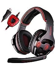 Sades R4 Auricolare Gaming per la Nuova Xbox One, PS4 Controller, 3,5 Millimetri cablata Over-Ear Rumore cancellazione Microfono Controllo del Volume per Mac/PC/laptop/PS4/Xbox One (Nero)