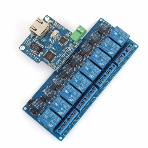 SainSmart iMatic 8 Channels Relay + I/O Remote Control Controller Module, RJ45 Interface, Compatible with Arduino, Android iOS Device Control Under WiFi Connected Network